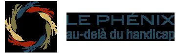 Logo du site internet : Le Phénix - Au delà du handicap