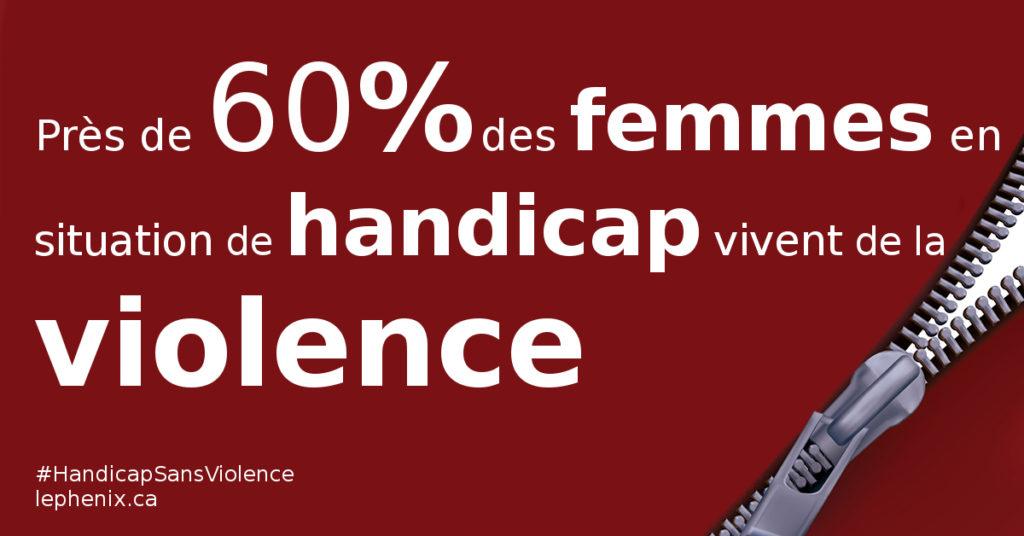 Près de 60% des femmes en situation de handicap vivent de la violence